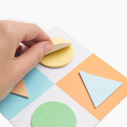 Poketo Geometric Sticky Notes- Orange / Blue