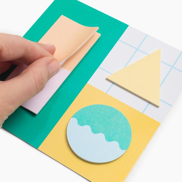 Poketo Geometric Sticky Notes- Green