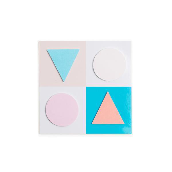 Poketo Geometric Sticky Notes- Pink / Blue
