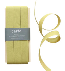 Studio Carta by Angela Liguori Tight Weave Cotton Ribbon - Chartreuse