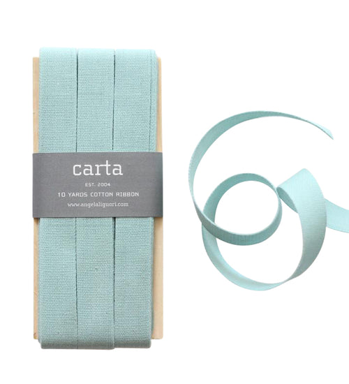 Studio Carta by Angela Liguori Tight Weave Cotton Ribbon - Pool