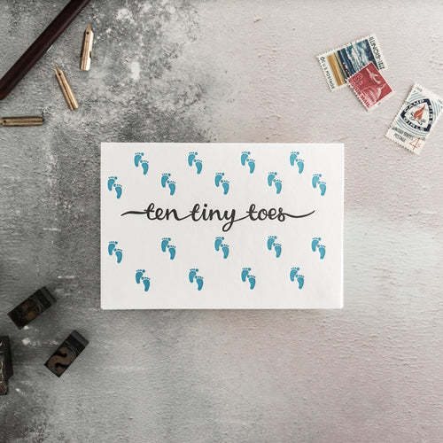 "Hunter Paper Co. ""Ten Tiny Toes"" Letterpress Card"