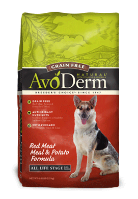 AvoDerm Natural Grain Free Red Meat and Potato Dry Dog Food