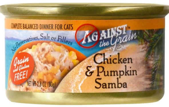 Against the Grain Chicken and Pumpkin Samba Canned Cat Food