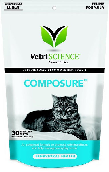 VetriScience Composure Behavioral Health Chews for Cats
