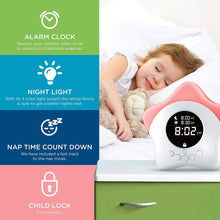 Learn & Climb Kids Ok to Come Out of Bed Clock- Kids Sleep Training Clock,Night Light & Alarm.