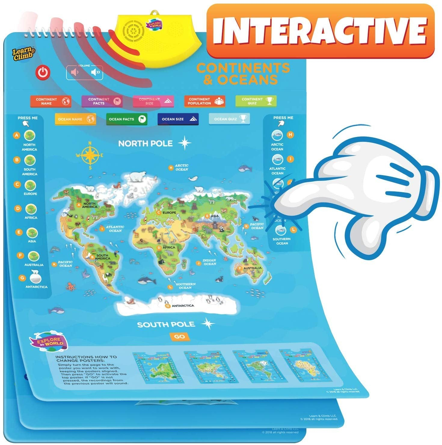 My Talking World Map Interactive Educational Maps for Kids ...