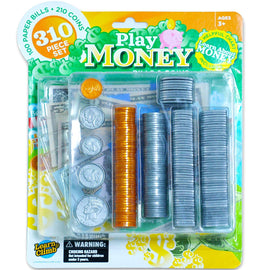 Kids Play Fake Money Set Bills & Coins