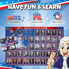 Magnetic USA Map Puzzle & President Puzzle for Kids