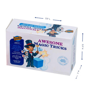 Learn & Climb - Awesome Magic Tricks Set | Includes Illusion Box, Coin Escape with Kerchief, Deck of Magical Cards | Kit of 3 Unique Props for Kids to Learn & Perform 5+ Tricks | Instructions Included