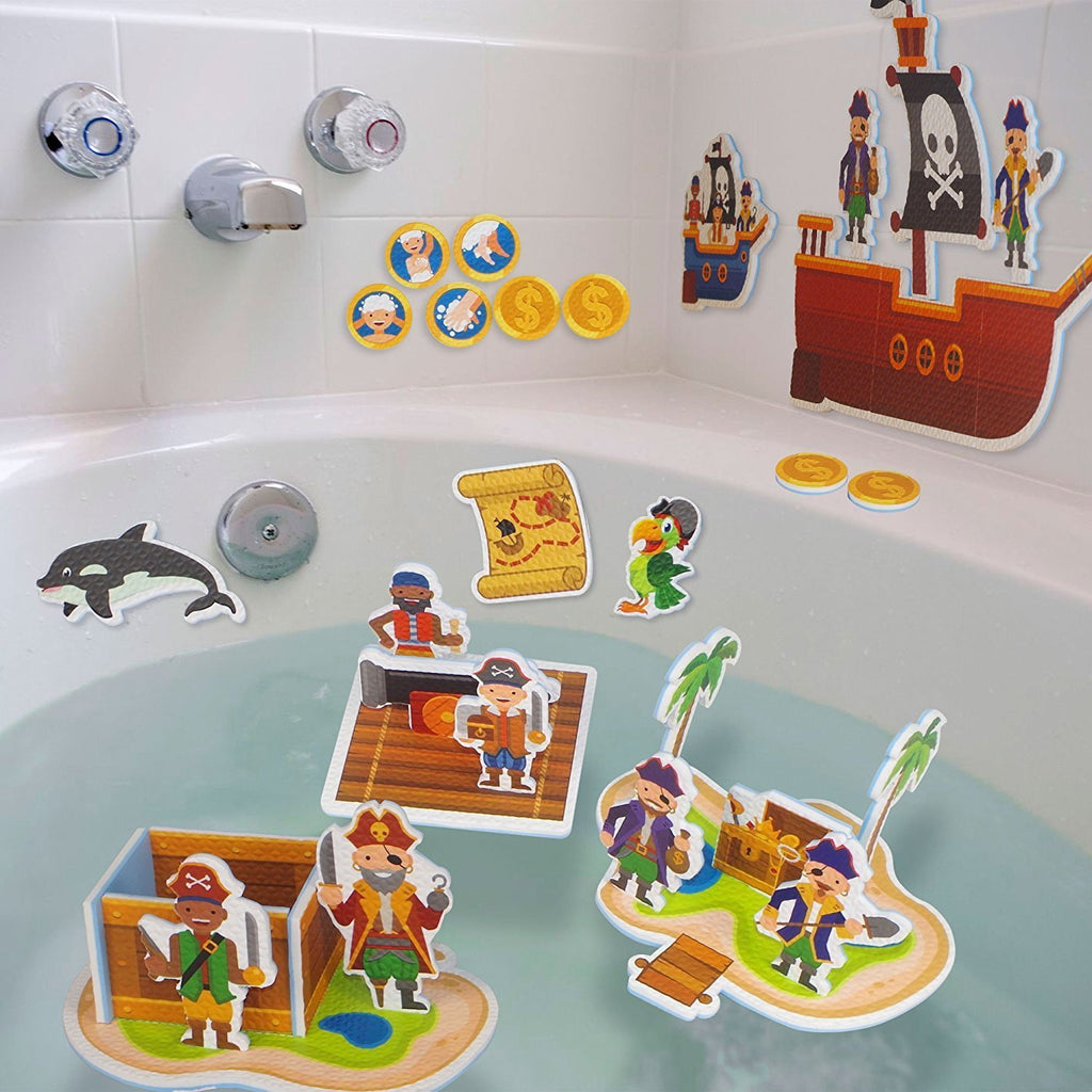 Interactive Foam bath toy for toddlers and kids- pirate bath toy for ...