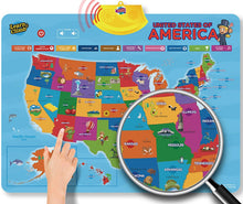 Learn & Climb Interactive USA map- Batteries not Included