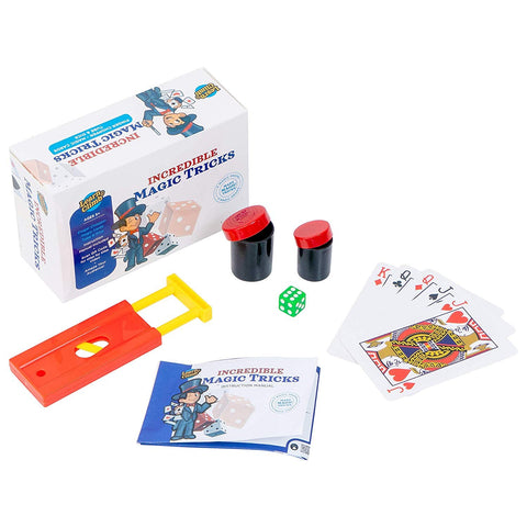 Learn & Climb - Incredible Magic Tricks Kit | Set of 3 Unique Props for Kids to Perform Tricks | Includes Tube & Dice Trick, Finger Chopper Trick, Magical Mind Reading Cards Illusion & Instructions