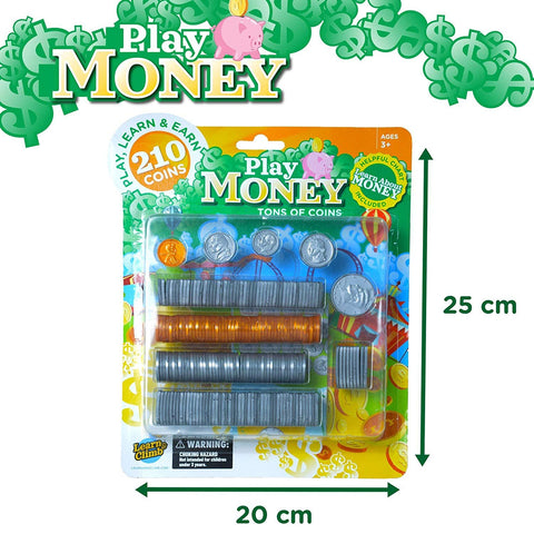 Learn & Climb Kids Play Money Coin Set