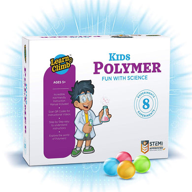 Polymer Science Kit, 9 Science Experiments Kids. Educational & Entertaining Boys Girls Aged 4+ Supports STEM Learning Initiatives. Complete Components & Apparatus