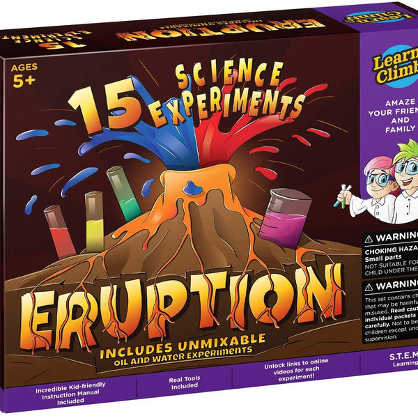 Learn & Climb Erupting Volcano Science Kit for Kids- 15 Experiments!