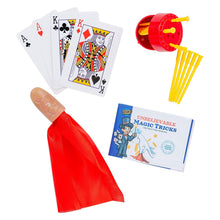 Learn & Climb - Unbelievable Magic Tricks Kit | Set of 3 Unique Props for Kids to Perform 5+ Tricks | Includes Appearing Silk Trick, Spiked Coin Trick & Kings to Aces Card Illusion & Instructions