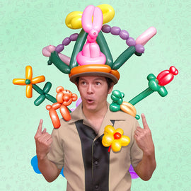 Learn & Climb 100 Twisting Balloons with Hand Pump- double action pump for sculpting balloon animals. Premium balloons.
