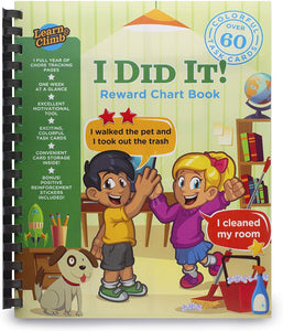 Reward Chart Book. Chore System for Kids. Full Year Journal of Weekly Reward Charts and Stickers!