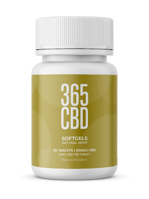 365CBD Softgels / 300mg CBD / 30 Gels