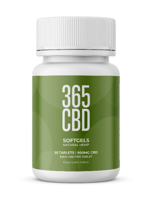 365CBD Softgels / 900mg CBD / 30 Gels