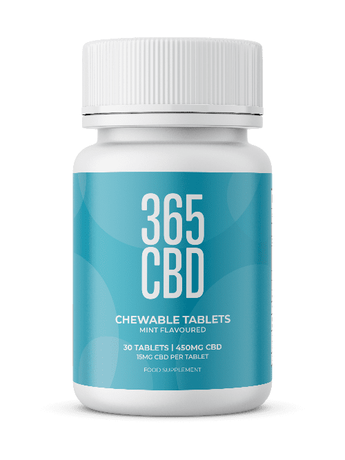 365CBD - Chewable Tablets /  450mg / 30 Tablets freeshipping - CBDSupermarket