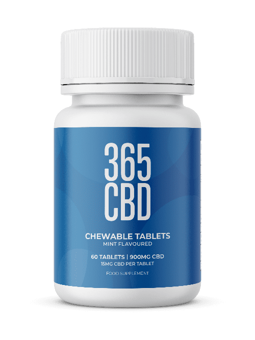 365CBD - Chewable Tablets /  900mg / 60 Tablets