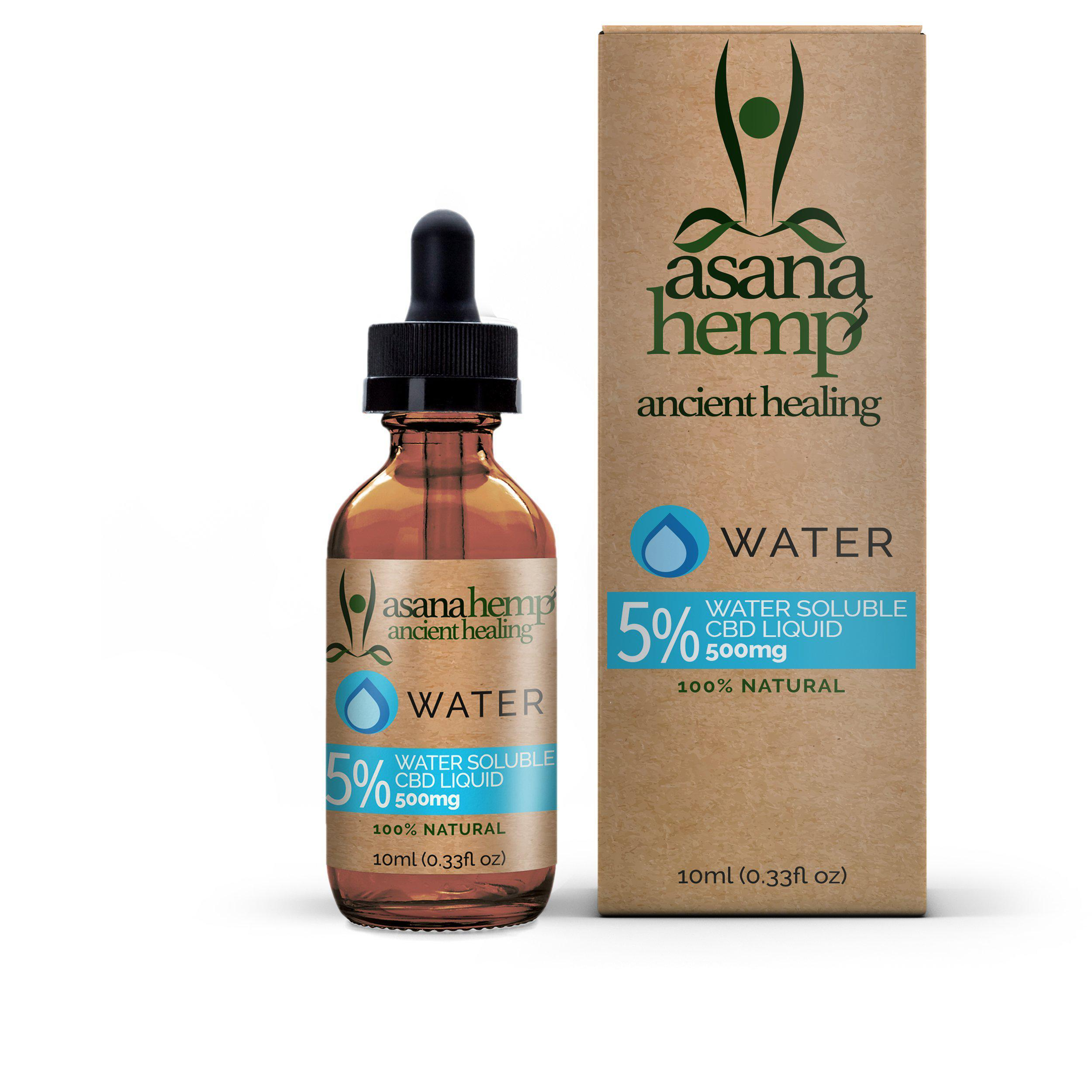 Asana Water Soluble 5% CBD | 10ml freeshipping - CBDSupermarket
