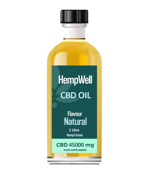 Bulk CBD Oil - 1 Litre - 45000mg of CBD