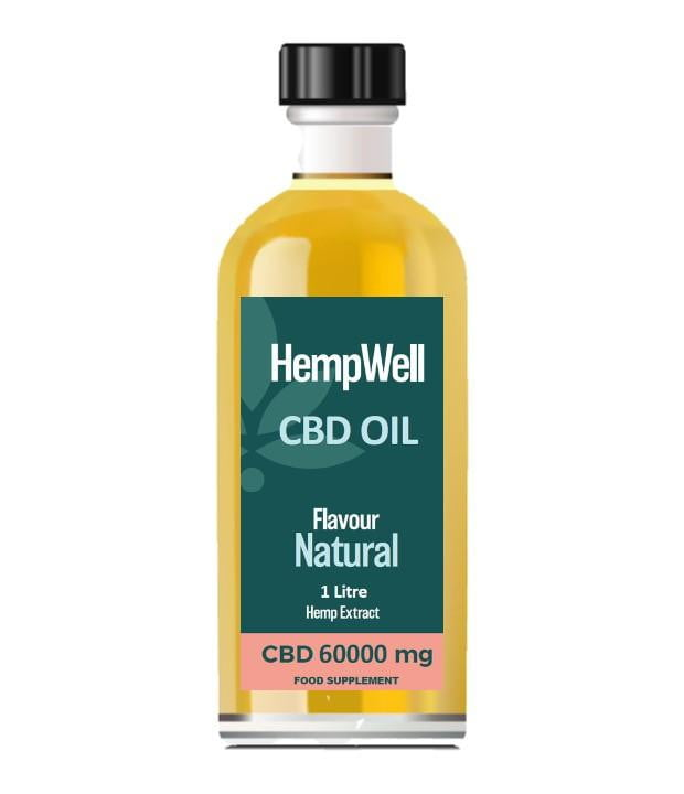 Bulk CBD Oil - 1 Litre - 60000mg of CBD