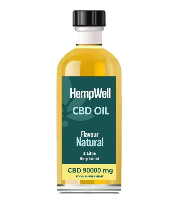 Bulk CBD Oil - 1 Litre - 90000mg of CBD