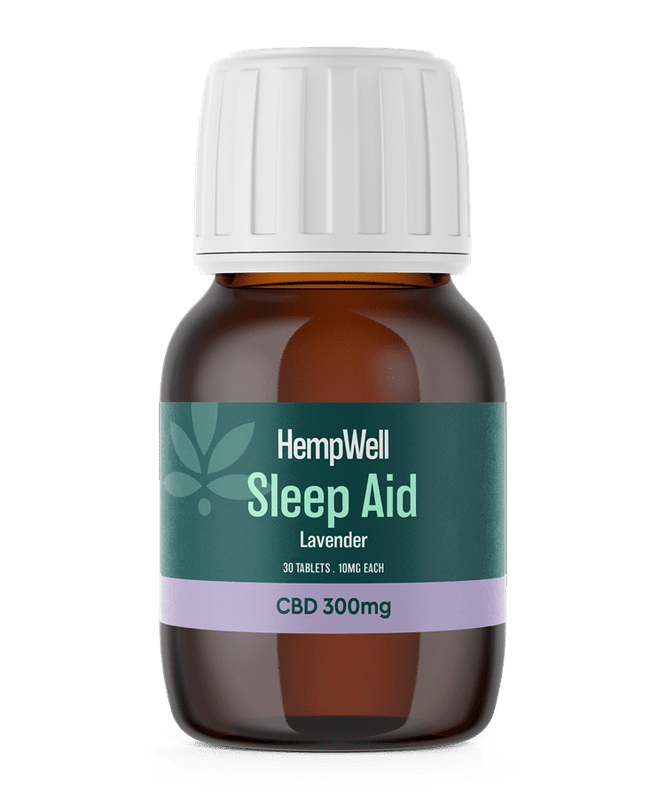 HempWell Sleep Aid CBD Tablets | 300mg CBD | 30 x 10mg Tablets freeshipping - CBDSupermarket