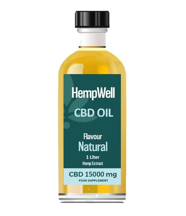 Bulk CBD Oil - 1 Litre - 15000mg of CBD