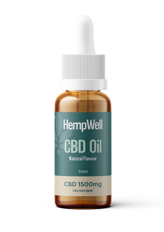 Hemp Well CBD Oil : 1500mg CBD : 30ml Bottle