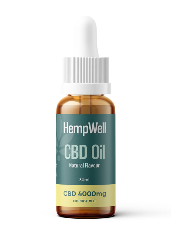 HempWell CBD Oil | 4000mg CBD | 30ml Bottle