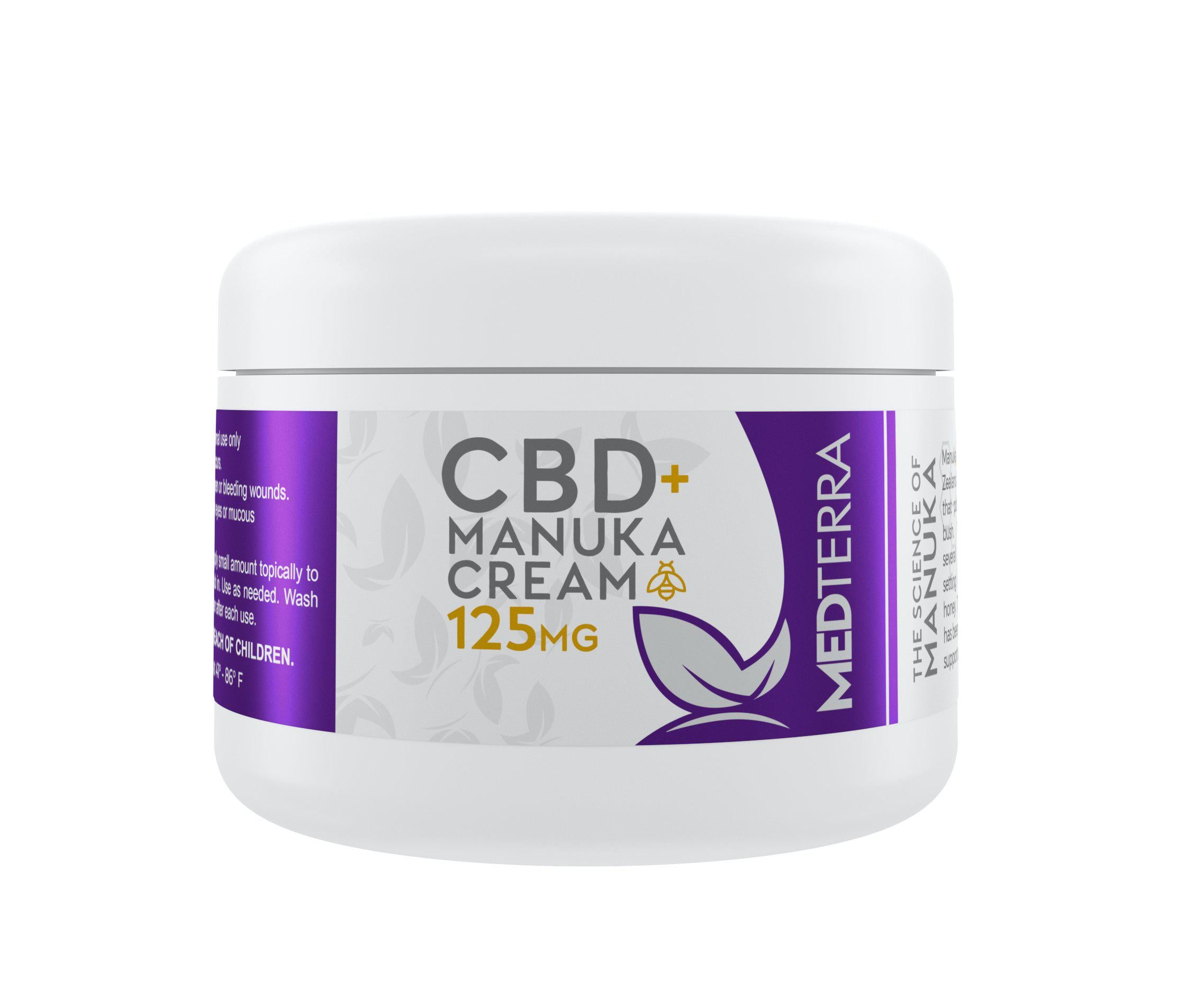 Medterra - CBD + Manuka Cream 125mg - 30ml