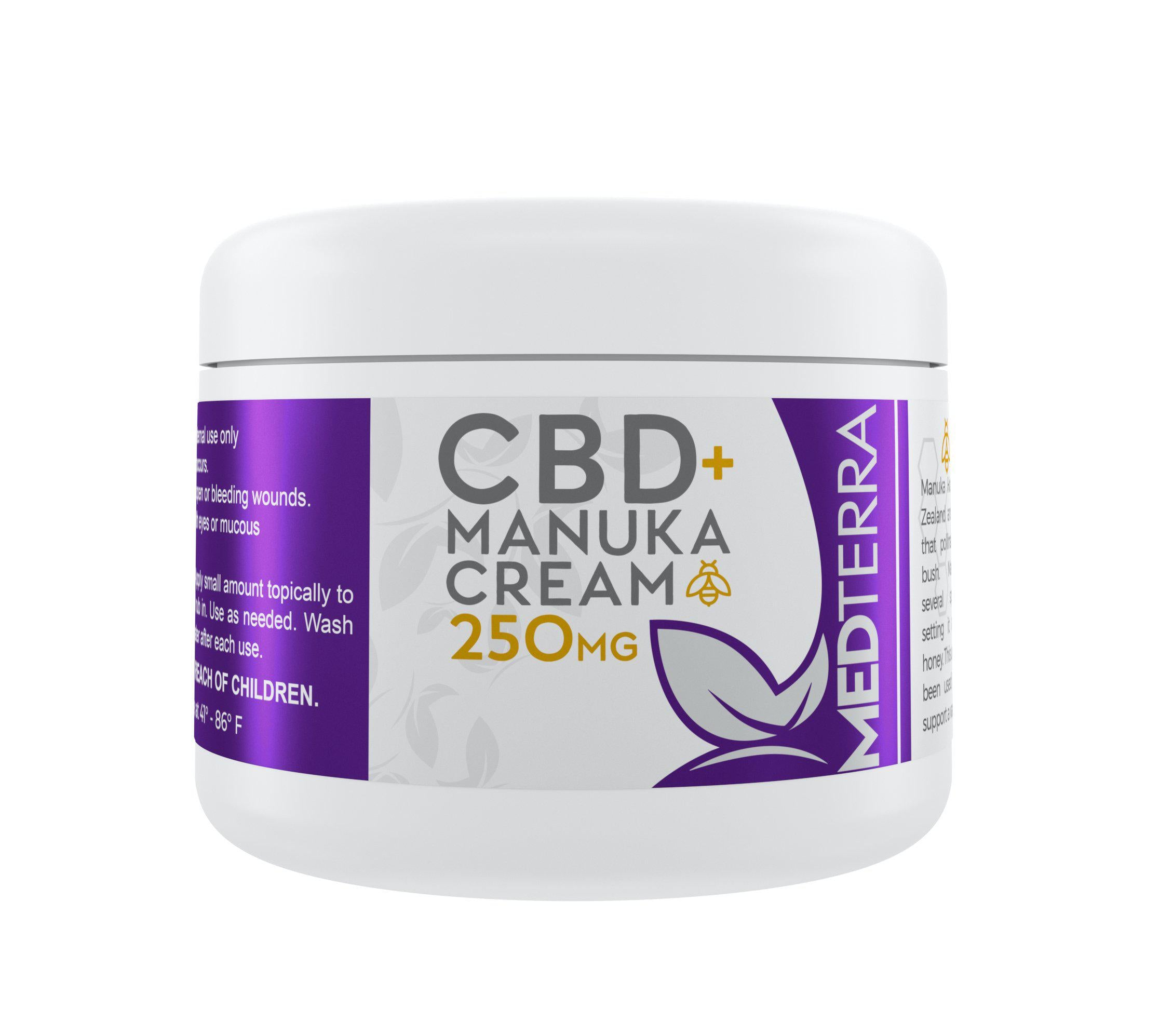 Medterra - CBD + Manuka Cream 250mg - 60ml