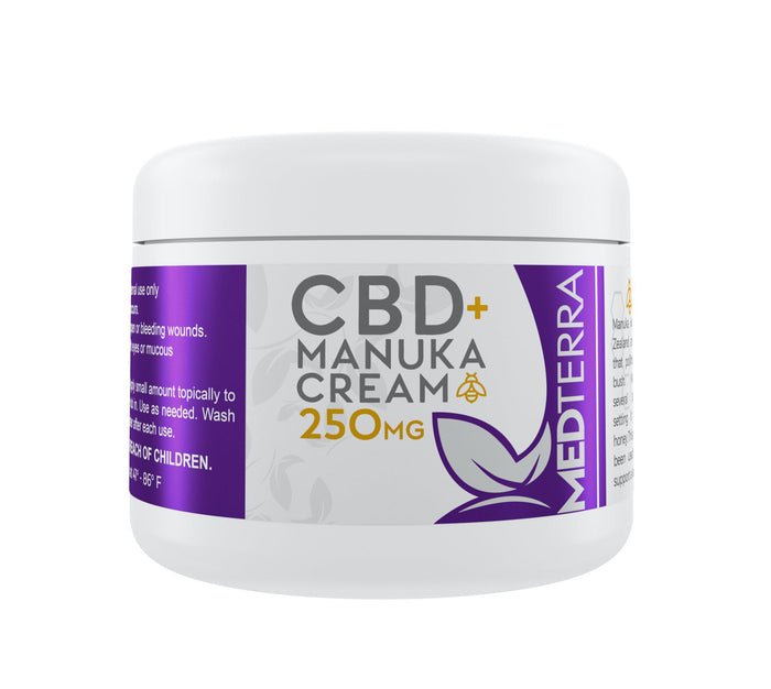 Medterra - CBD + Manuka Cream 250mg - 60ml freeshipping - CBDSupermarket