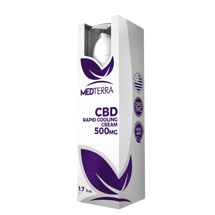 Medterra - CBD Rapid Cooling Cream | 500mg CBD | 50ml bottle