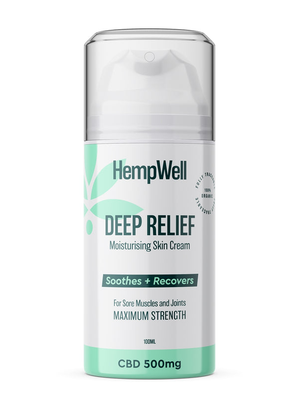 Hemp Well Cooling Muscle & Joint Cream 500mg CBD : 100ml Bottle