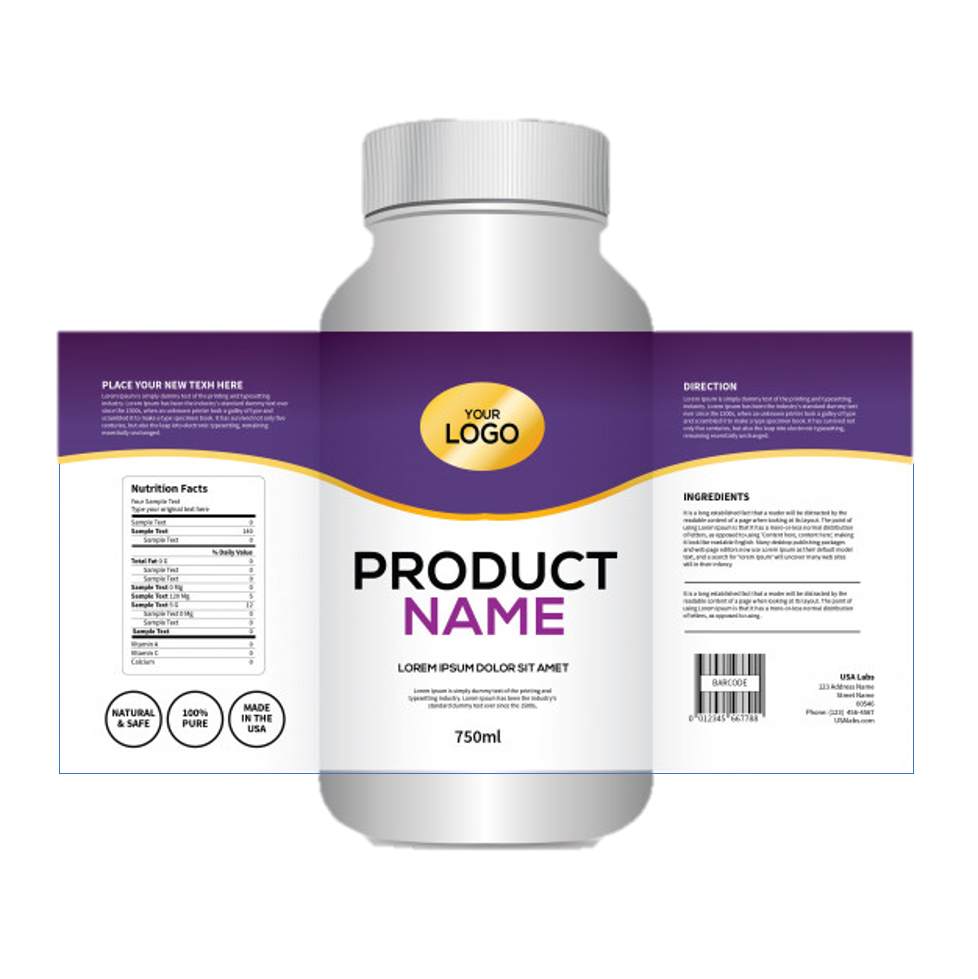 Private Label - 1 Label Design Fee (per product)