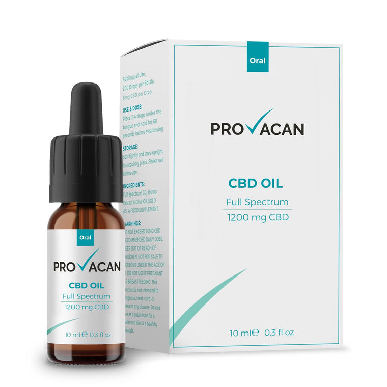Provacan CBD Oil : 1200mg CBD : 10ml Bottle