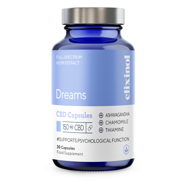 Elixinol - Dreams | 150mg CBD Capsules