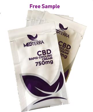 Free Sample of Medterra CBD Cream for Pain 750mg CBD, 2 Sachets per order