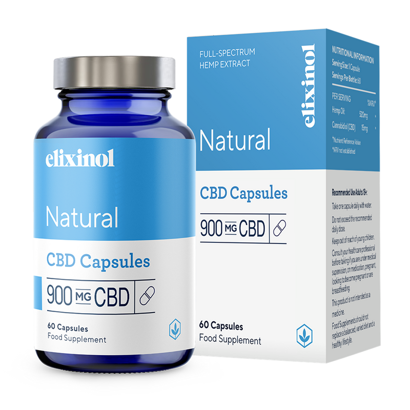 Elixinol - 900mg CBD Hemp Oil | 60 Capsules freeshipping - CBDSupermarket
