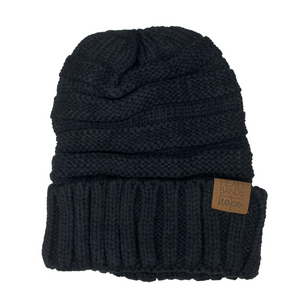 Black Slouchy Beanie-Wholesale