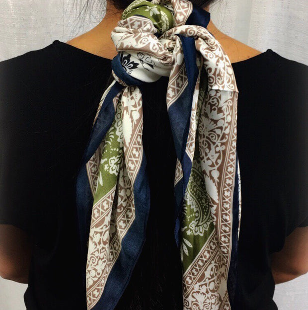 Paisley Princess Scarf in Olive-Wholesale 1