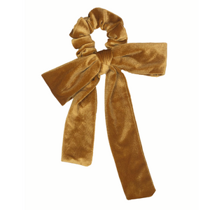 Gold Velvet Bow Scrunchie-Wholesale