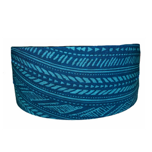 Navy Aztec Tube Turban- Wholesale