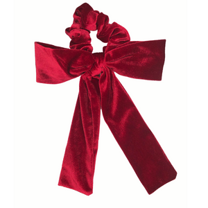 Red Velvet Bow Scrunchie-Wholesale